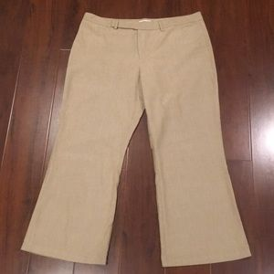 Old navy tan trousers size 14. Stretch